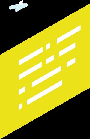 boîte de texte jaune