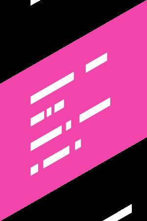 boîte de texte rose