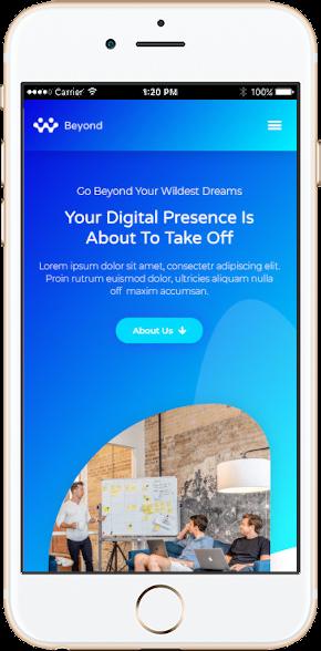 Site web optimisé mobile