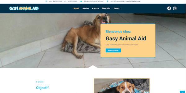 Site web de l'association Gasy Animal Aid