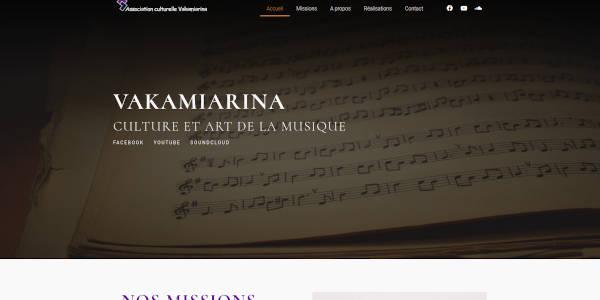 Site web de l'association Vakamiarina